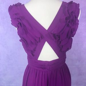 Purple Ruffle Jumpsuit